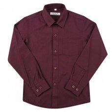 Marškiniai ilgomis rankovėmis, bordo