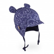 TuTu dviguba kepurė su ausytėmis ir snapeliu