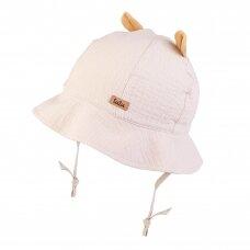 TuTu organinės medvilnės kepurė Meškiukas