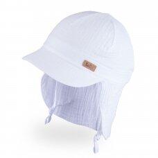 TuTu organinės medvilnės kepurė su kaklo apsauga
