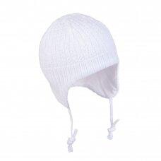 TuTu pavasarinė megzta kepurė su raišteliais