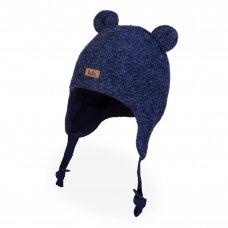 TuTu vilnonė kepurė su raišteliais Meškiukas