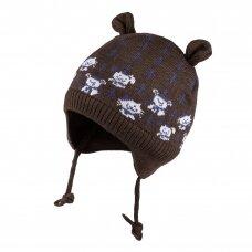 TuTu žieminė kepurė su raišteliais šuniukai